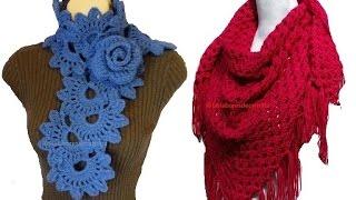 getlinkyoutube.com-Chal Bufanda flores crochet