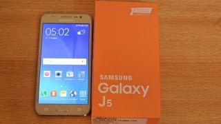 getlinkyoutube.com-Samsung Galaxy J5 GOLD - Unboxing HD