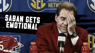 getlinkyoutube.com-Watch Nick Saban get emotional talking about Kirby Smart