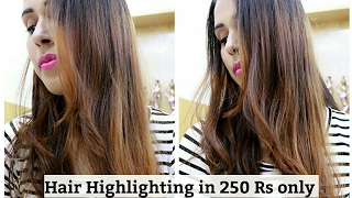 Hair Highlighting at Home in just 250 Rs only/SuperBeautyj