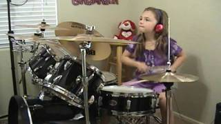 """getlinkyoutube.com-AC/DC """"Who Made Who Live 92"""" a Drum Cover by Emily"""