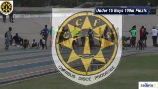CCFS Boys Under 15 100 Metre finals