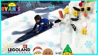 getlinkyoutube.com-LEGOLAND SNOW DAYS Family Fun Amusement Park for kids GIANT LEGO Children Play Center