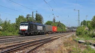 getlinkyoutube.com-Bahnverkehr in Haltingen und Muttenz - HUSA BR 189 092