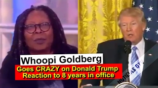 getlinkyoutube.com-Whoopi Goldberg goes CRAZY on Donald Trump Reaction to 8 years in office!