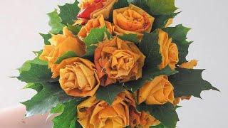 getlinkyoutube.com-Розы из осенних листьев