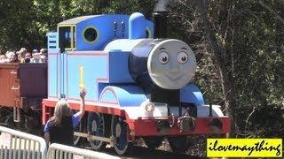 getlinkyoutube.com-Riding a Real Thomas the Tank Engine Train Experience Highlights