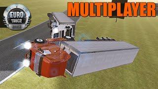 getlinkyoutube.com-Euro Truck Driver Multiplayer - Curvas Perigosas e Acidente