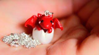 getlinkyoutube.com-DIY: Baby Dragon Necklace Polymer Clay Tutorial (Collab w/ LittleSurprisesYT)