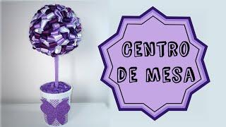 getlinkyoutube.com-Centro de mesa/Topiaria com fita de cetim |DIY - Faça você mesmo