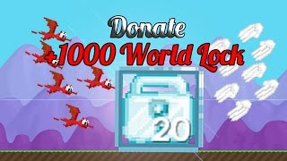 getlinkyoutube.com-Growtopia | Donate me +1000 World Lock.