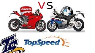 getlinkyoutube.com-TOP SPEED BMW S1000RR VS Ducati 1299 Panigale สายแดงVSสายดำ