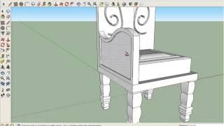 getlinkyoutube.com-การทำเก้าอี้ sketchup #ขิมเรียม