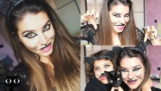 getlinkyoutube.com-Black Cat Makeup Tutorial || Spink