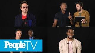 Kids Interview The Avengers: Chadwick Boseman, Robert Downey Jr., Sebastian Stan & More | PeopleTV