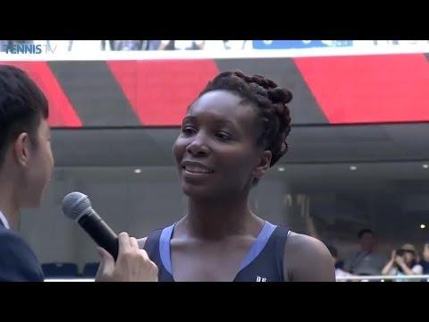 Venus Williams 2015 Wuhan Open Final Speech