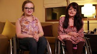 getlinkyoutube.com-Our Unbreakable Bond: Mum And Daughter Both Have Brittle Bone Disease