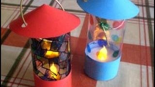 How to make a lantern from an LED tealight