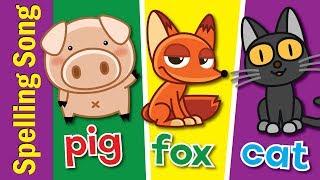 The Spelling Song   Learn to Spell 3 Letter Words   Kindergarten, Preschool & ESL   Fun Kids English