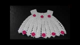 getlinkyoutube.com-PAP vestidinho em Crochê para Bebê