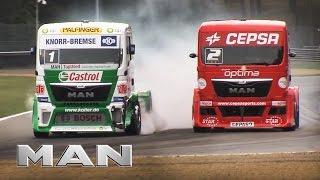 getlinkyoutube.com-MAN - Truck Race Zolder - big crash - 21.09.2013