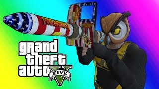 getlinkyoutube.com-GTA 5 Online Funny Moments - Floating RPG & Batcoon Dumpster Company!