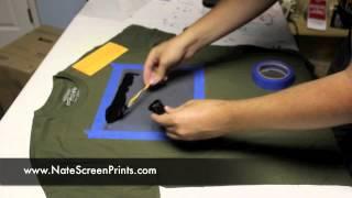 getlinkyoutube.com-AMAZINGLY Simple way to Screen Print at Home!