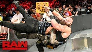 Roman Reigns vs. Braun Strowman - Last Man Standing Match: Raw, Aug. 7, 2017 width=