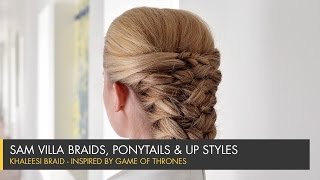 getlinkyoutube.com-Game of Thrones Inspired Hair Tutorial | Khaleesi Braid