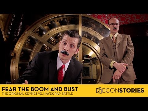 Fear The Boom And Bust Keynes Vs Hayek Rap Battle de Econstories Letra y Video