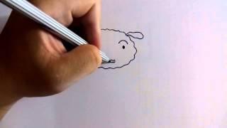 getlinkyoutube.com-วาดการ์ตูนกันเถอะ สอนวาดการ์ตูน ชิโร หมาขาวของชินจัง ง่ายๆ หัดวาดตามได้
