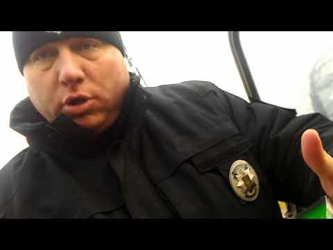 Остановка УАЗа за ремни безопасности. Вопрос за сеточку на номерах (обл. полиция Днепра)