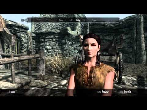 Skyrim Character Creation Gameplay -d0tyc05uywM