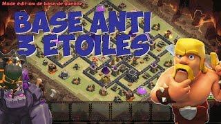 getlinkyoutube.com-FANTASTIQUE base GDC anti-3 étoiles HDV 9   village IMPRENABLE !   Clash of Clans Fr