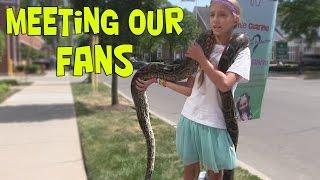 Meeting Our Fans - Pet-A-Palooza (SnakeHuntersTV)