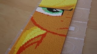 getlinkyoutube.com-Perler Bead My Little Pony Applejack Time lapse