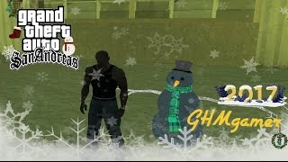 getlinkyoutube.com-GTA san : Snow man & Snow  MOD ปั้นมนุษย์หิมะด้วยกันไหม !!