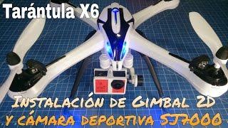 getlinkyoutube.com-TARÁNTULA X6 JJRC: CÓMO INSTALAR UN GIMBAL 2D. ¡¡GRABACIÓN DE VÍDEO PROFESIONAL!!
