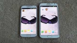 getlinkyoutube.com-SAMSUNG GALAXY S4 VS SAMSUNG GALAXY NOTE 2