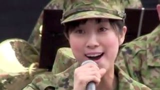 getlinkyoutube.com-鶫真衣 美人すぎる陸上自衛隊「Time To Say Goodbye」 タイム・トゥ・セイ・グッバイJapan Army