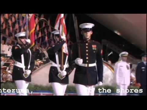 Armed Forces medley - Nat'l Memorial Day Concert 2010 (with lyrics)
