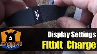 getlinkyoutube.com-Fitbit Charge - Customize Display Settings