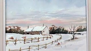 getlinkyoutube.com-How to paint a warm winter sky