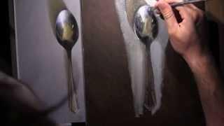 getlinkyoutube.com-Tea Spoon - Oil Painting Lesson