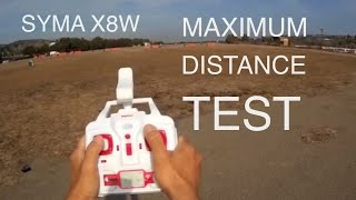 getlinkyoutube.com-SYMA X8W MAXIMUM DISTANCE TEST ( BANGGOOD )