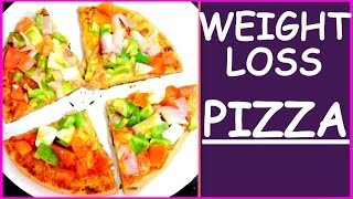 Weight Loss Pizza Recipe - How To Make Pizza On Pan Or Tawa at Home | Fat to Fab