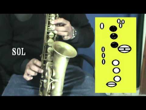 Las 32 NOTAS MUSICALES del SAX ALTO MIb (SIb - FA) IN OUT STUDIO