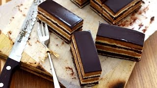 getlinkyoutube.com-How to make Opera Cake  オペラケーキの作り方 Cara Membuat Opera Cake