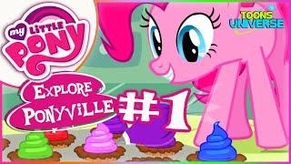 getlinkyoutube.com-💫 My Little Pony Explore Ponyville Pinkie Pie Make Cupcake - MLP Part Game for Children #1