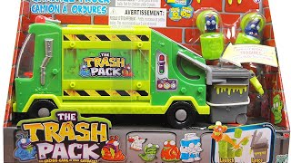 getlinkyoutube.com-Let's Play The Trash Pack 'Trashies' Garbage Truck toys surprise icky characters unveiled